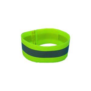 Reflecterende Armband Zonder Opdruk Geel Met Klitteband